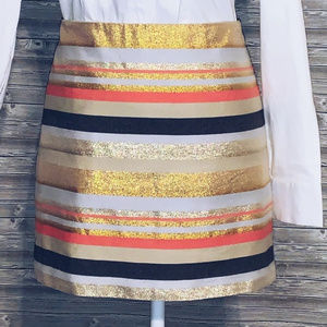 J. Crew Metallic Striped Skirt ✨  ✨  ✨